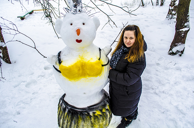Снеговик своими руками - фото