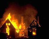 Пожар который был виден с Кургана