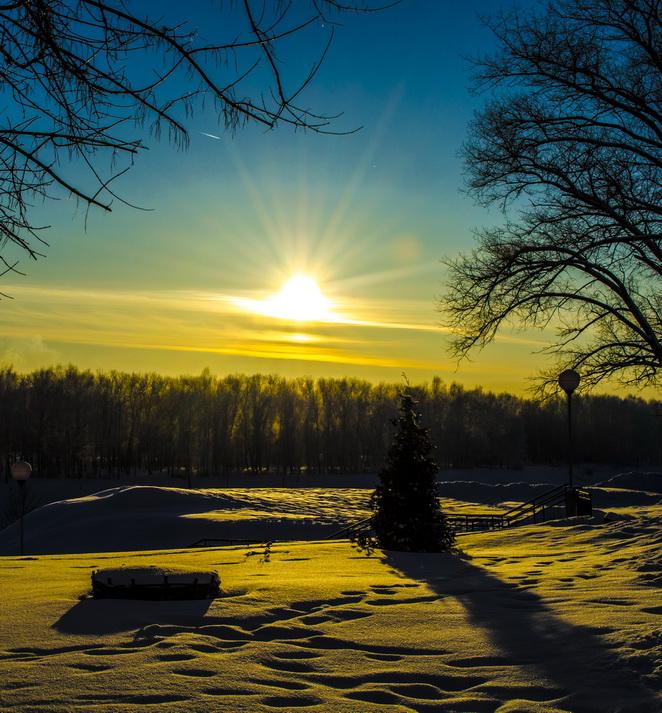 Зимняя прогулка - Закат