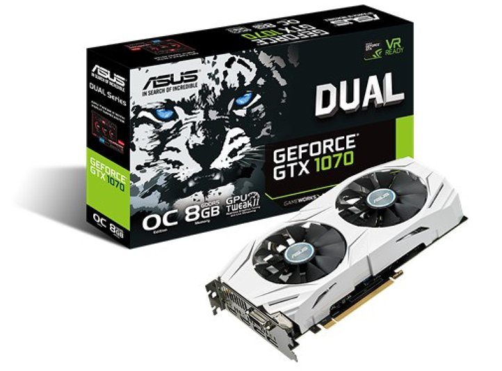Видеокарта: ASUS GEFORCE GTX1070 DUAL