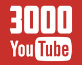 3000 подписчиков на моём YouTube канале